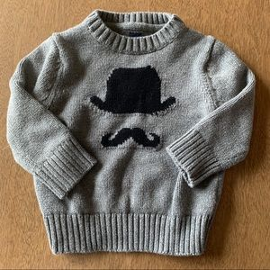 🏇🏼 2/$20 Gap Top Hat Mustache Hipster Sweater